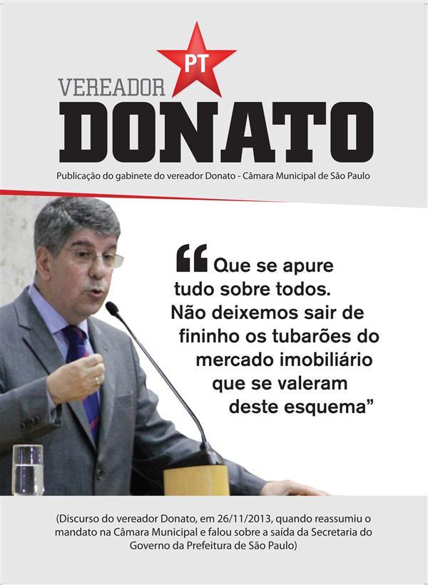 Leia o Discurso de Defesa do Vereador Donato