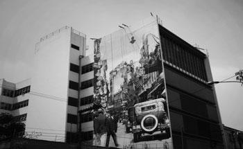 """O projeto """"Muros da Memória"""" é um dos mais populares de Kobra."""
