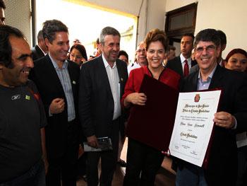 Dilma recebeu Título de Cidadã Paulistana oferecido pelo Ver Donato
