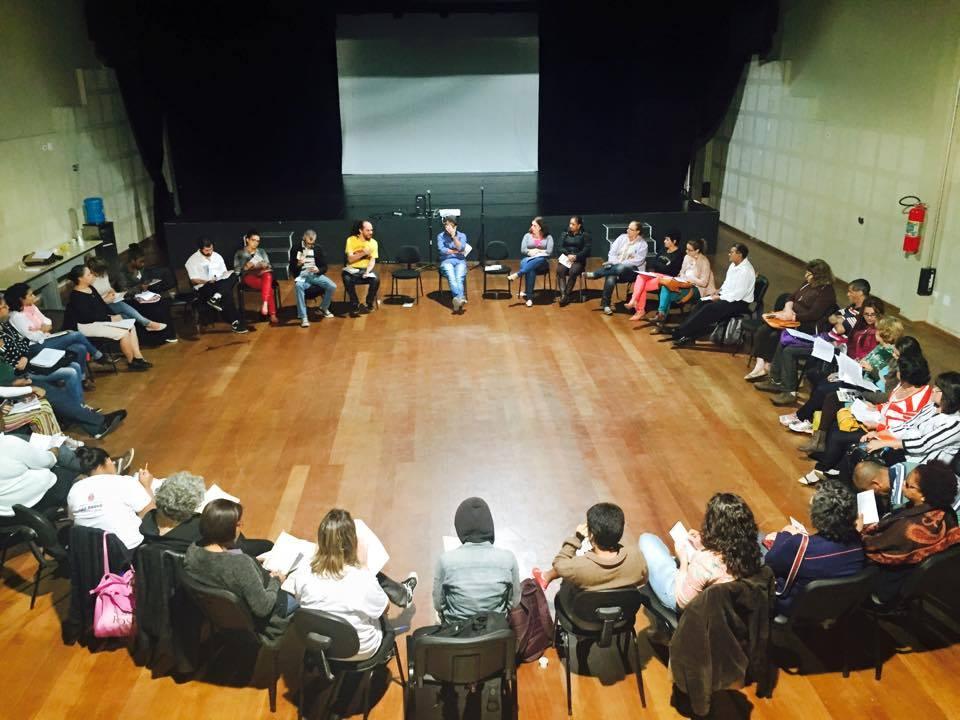um dos debates do pmlllb em Cidade Tiradentes dia 07 de abril de 2015.