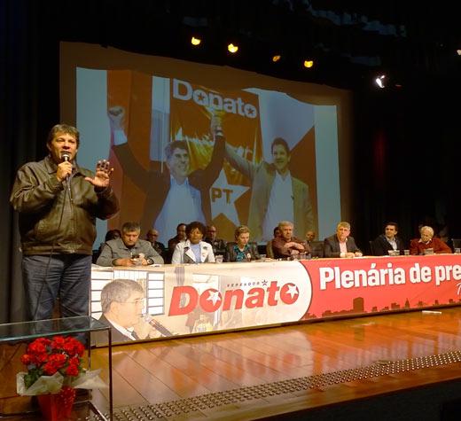 Haddad reconhece o bom trabalho de Donato na Presidência da Câmara e sua honestidade na política