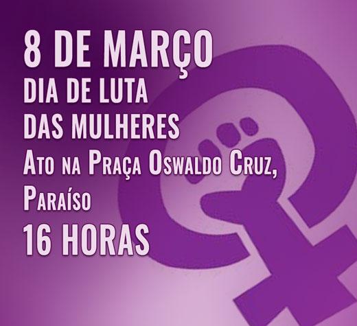 8 de Março: Dia de Luta das Mulheres na Avenida Paulista