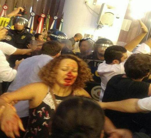 PT repudia violência da PM e GCM contra servidores