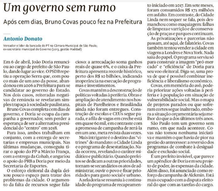 Um governo sem rumo