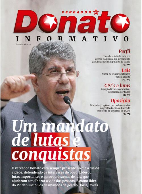 Conheça a nova revista de prestação de contas do Vereador Donato