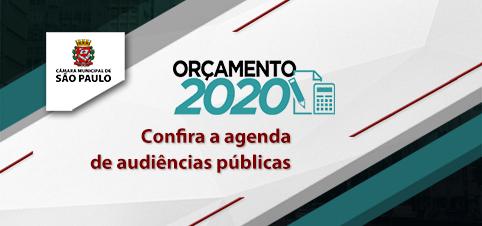 Participe das audiências do Orçamento de SP de 2020